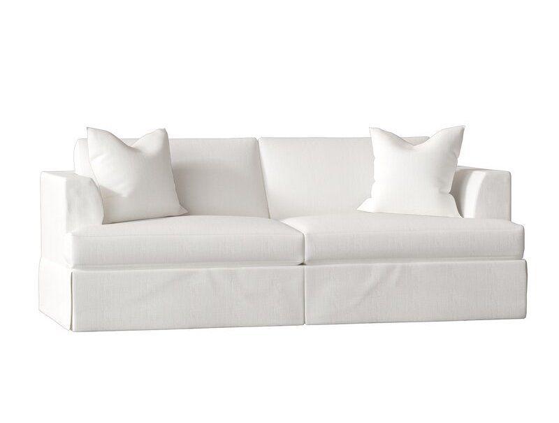White fabric sofa.