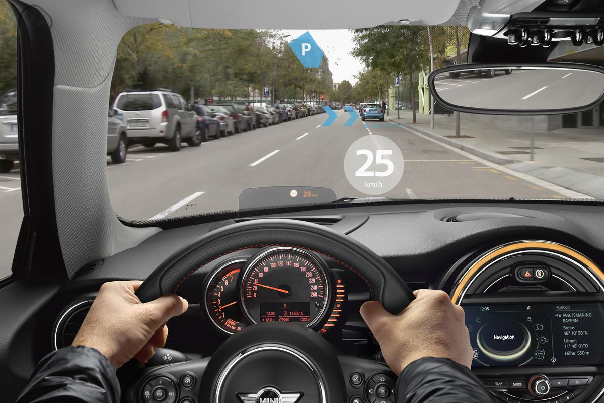 4eb156a4ec75 BMW s Mini Demos Augmented Reality Glasses for Drivers - Recode