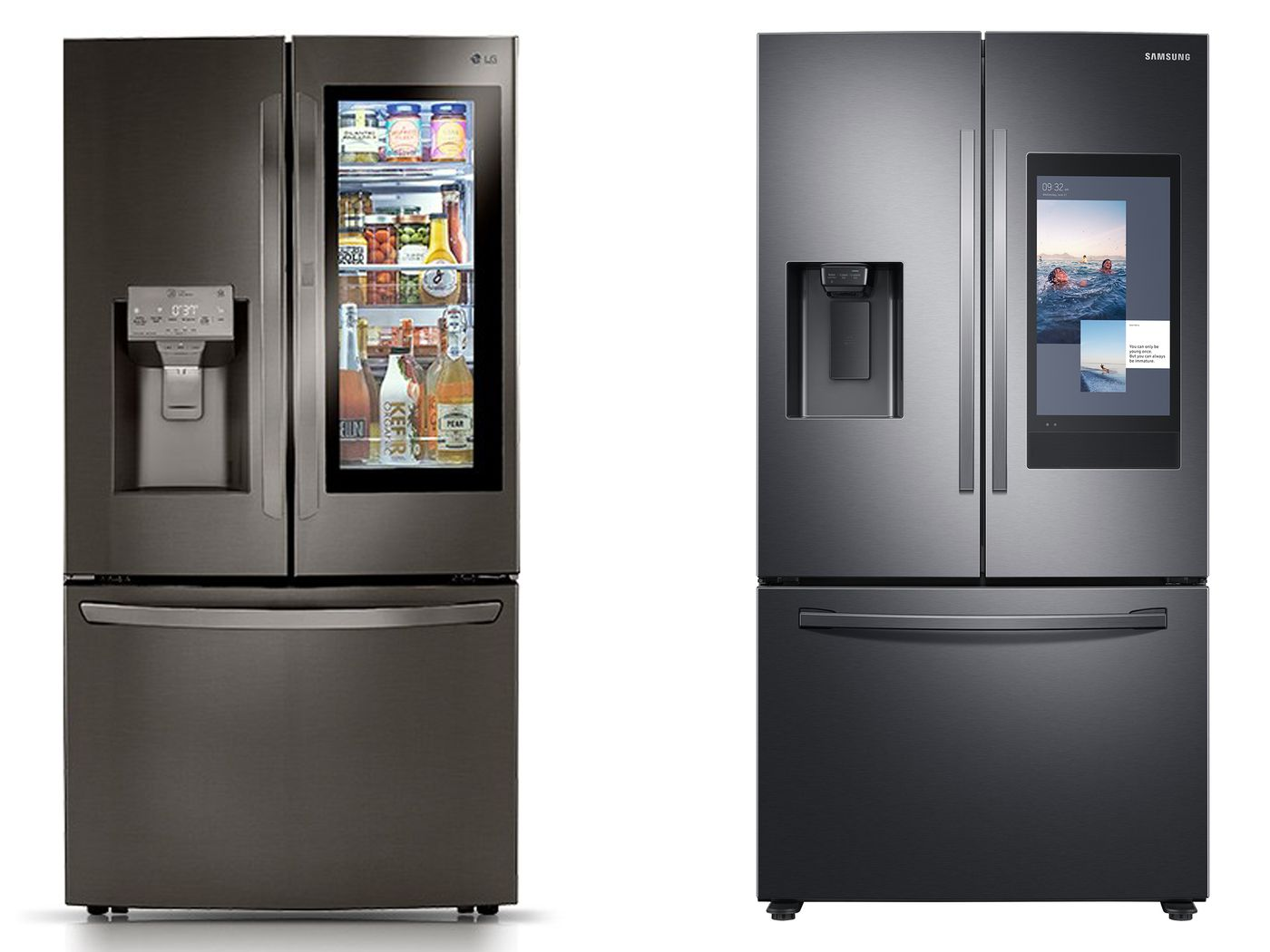 Samsung And Lg Go Head To Head With Ai Powered Fridges That Recognize Food The Verge