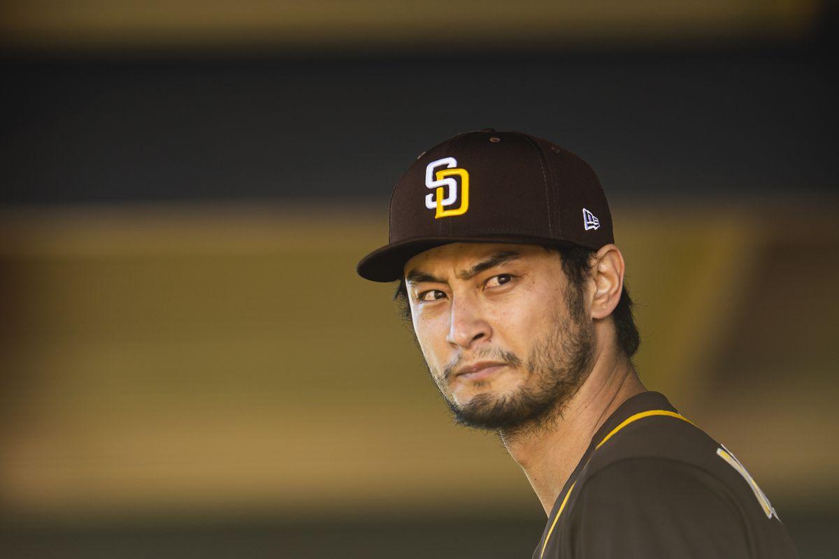 Game face of Yu Darvish.