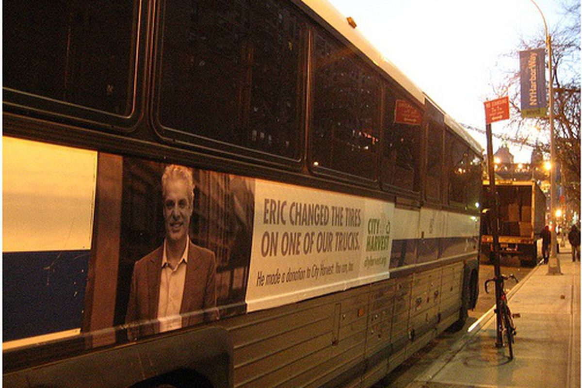 Eric Ripert Makes a Cameo on the Side of a Bus
