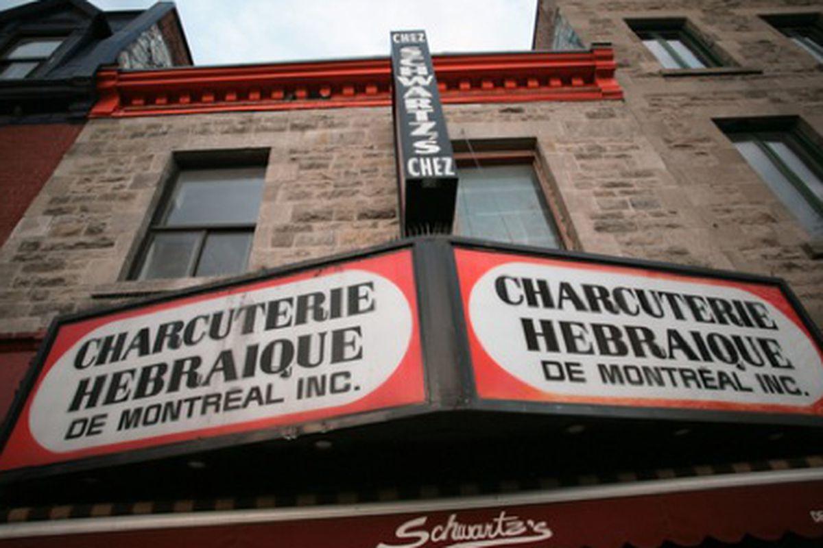 Schwartz's Deli on Boulevard St. Laurent, Montreal, Quebec.