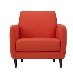 This product image courtesy of Crate and Barrel shows their Parlour Chair. Pantone has chosen a reddish-orange hue as their top color of the year for 2012.