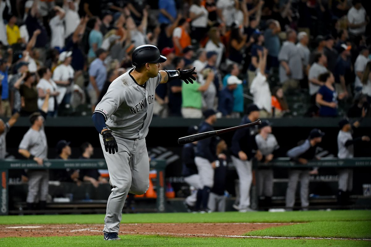 Gary Sanchez smashes go-ahead blast as Yankees defeat Orioles 10-7