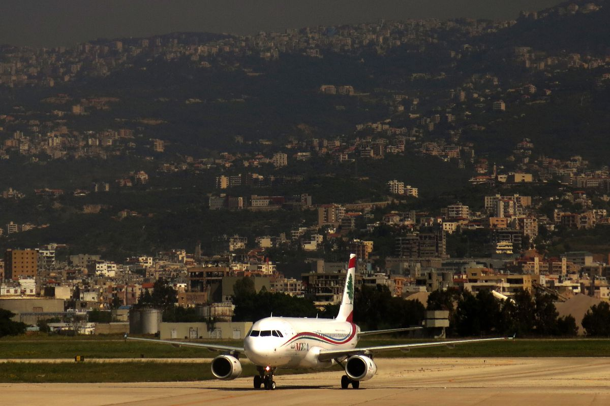 A Middle East Airlines plane at Beirut's Rafik Hariri airport.