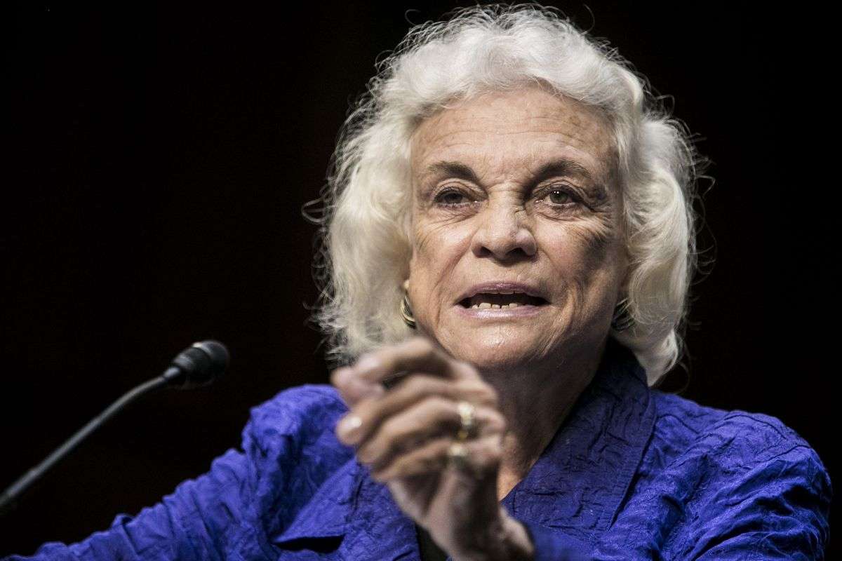 Former Supreme Court Justice Sandra Day O'Connor testifies before the Senate Judiciary Committee on July 25, 2012, in Washington, DC.