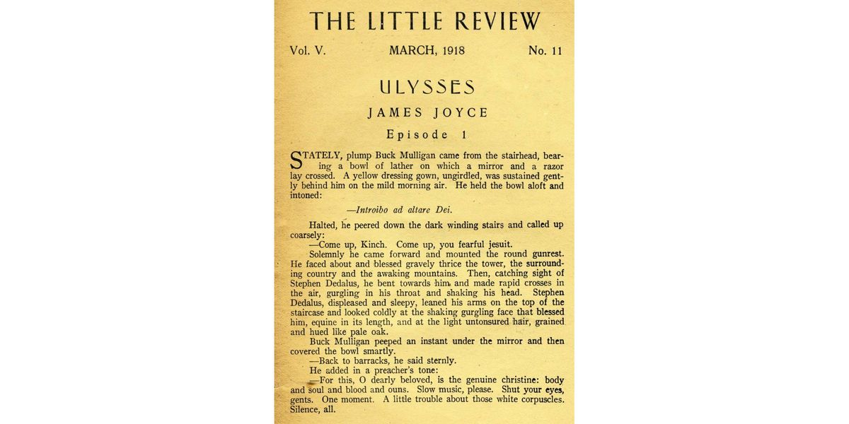 'The Little Review', where Buck Mulligan first appeared in his yellow dressing gown.