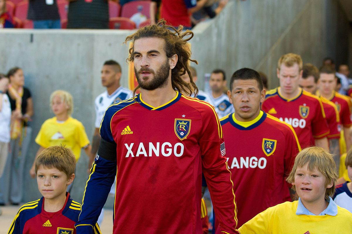 Real Salt Lake captain will have his hands full as he leads his team against San Jose on Saturday Night, can he help get a full 3 points on Saturday Night? Mandatory Credit: Russ Isabella-US PRESSWIRE