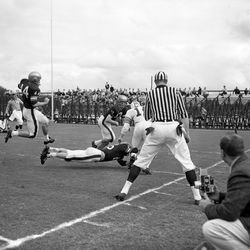 1957-FSU football game against Auburn University in Tallahassee, Florida.