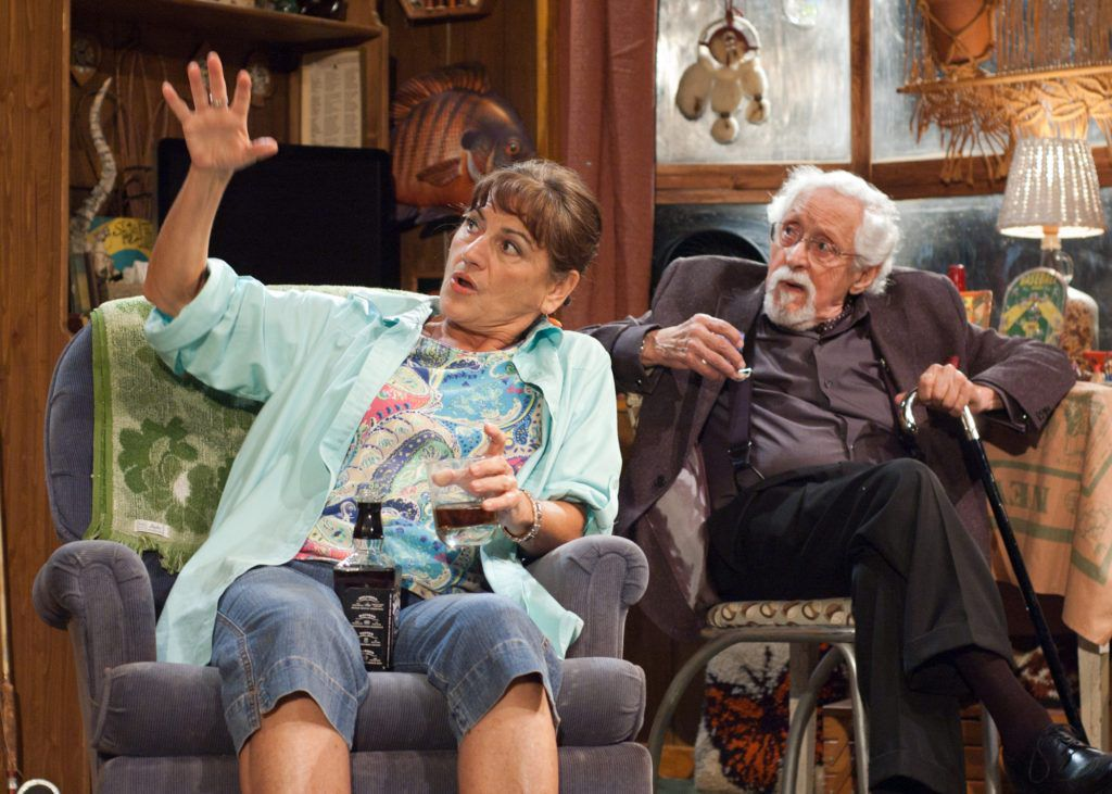 """Janet Ulrich Brooks and Mike Nussbaum in """"Bakersfield Mist,"""" a TimeLine Theatre production at Stage 773. (Photo: Lara Goetsch)"""