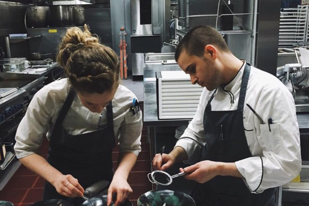 Chefs Ryan Fox and Ali Matteis of Nomad.PDX