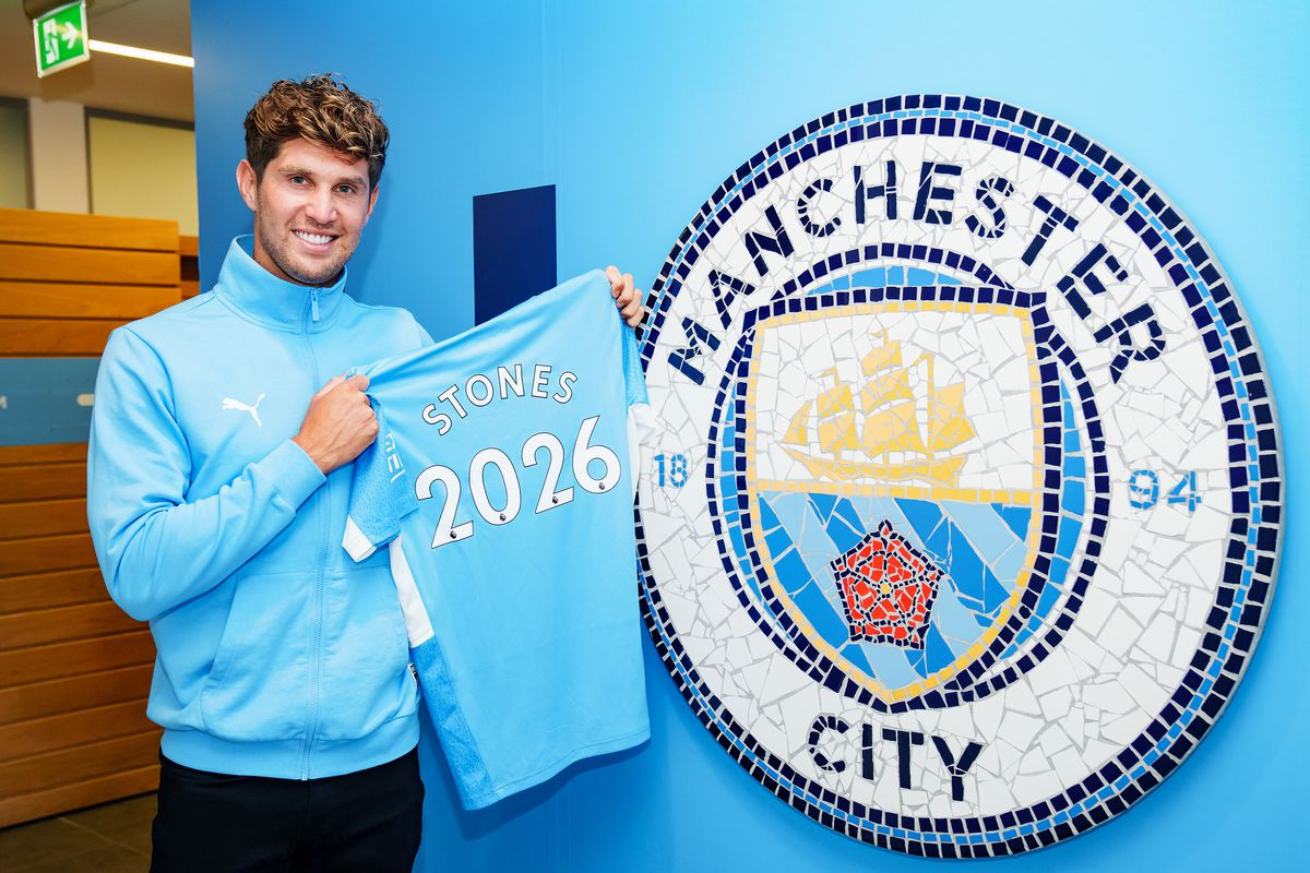 John Stones Signs A Contract Extension At Manchester City