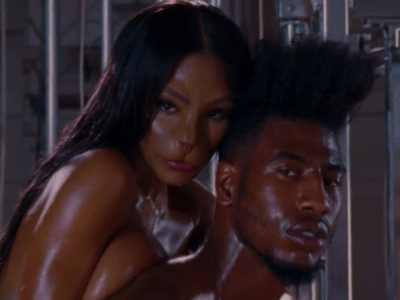 Iman Shumpert And Fiancée Teyana Taylor Made A Very Oiled Up