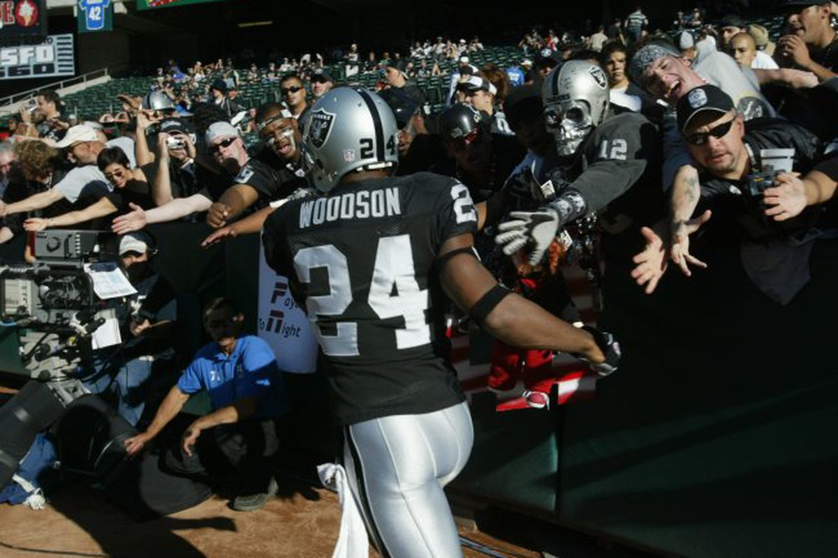 Oakland Raiders defensive back Charles Woodson