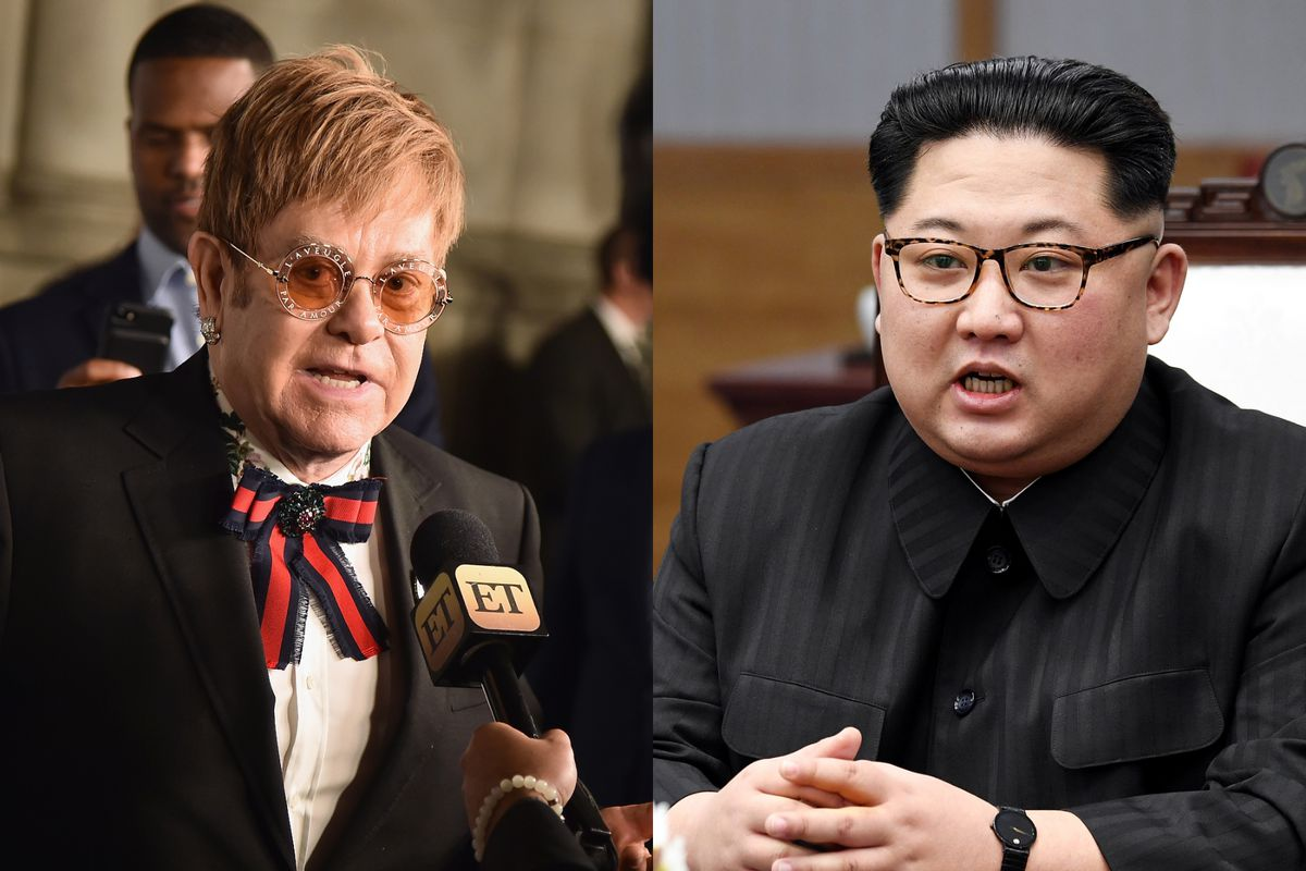 e7be0b18a President Donald Trump reportedly gave North Korean leader Kim Jong Un an  Elton John CD. Gilbert Carrasquillo/FilmMagic/Korea Summit Press Pool/Getty  Images