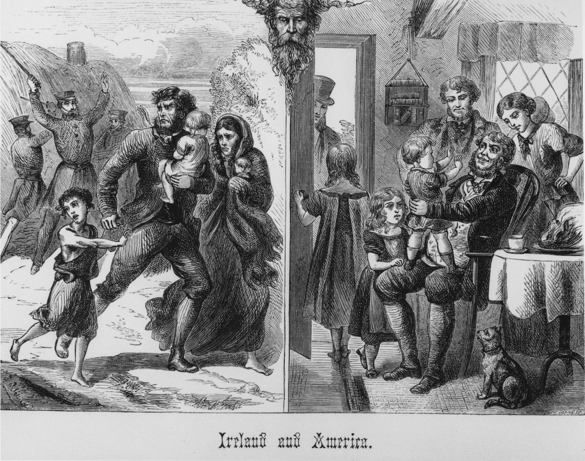 irish immigrants 1800s