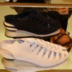 Later: Roni split suede sandal ($295)