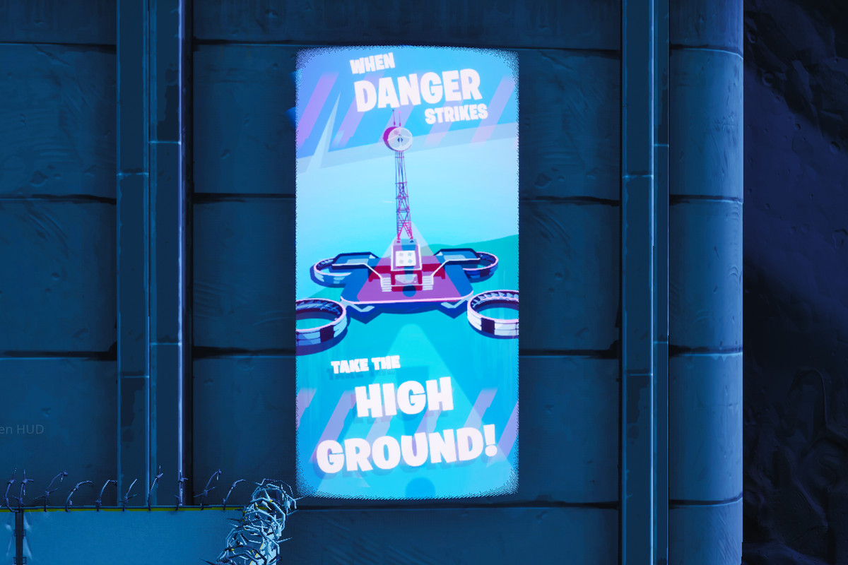 Fortnite public service announcement signs map — Neo Tilted