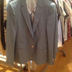 Chambray blazer, $125