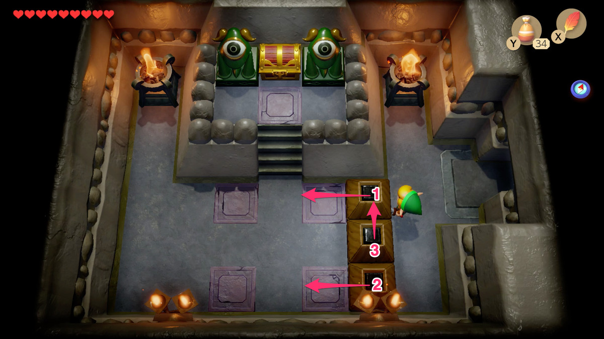 Link's Awakening Color Dungeon open a path to the Nightmare Key