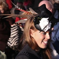SANDRINGHAM, UNITED KINGDOM - DECEMBER 25:  Princess Beatrice smiles after attending the Christmas Day Church Service at St Mary's Church on December 25, 2010 in Sandringham, England. The Queen's Christmas Day Speech to the Commonwealth from the Chapel Ro