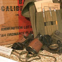 Items used by the 96th Infantry Division are displayed at Fort Douglas Military Museum.