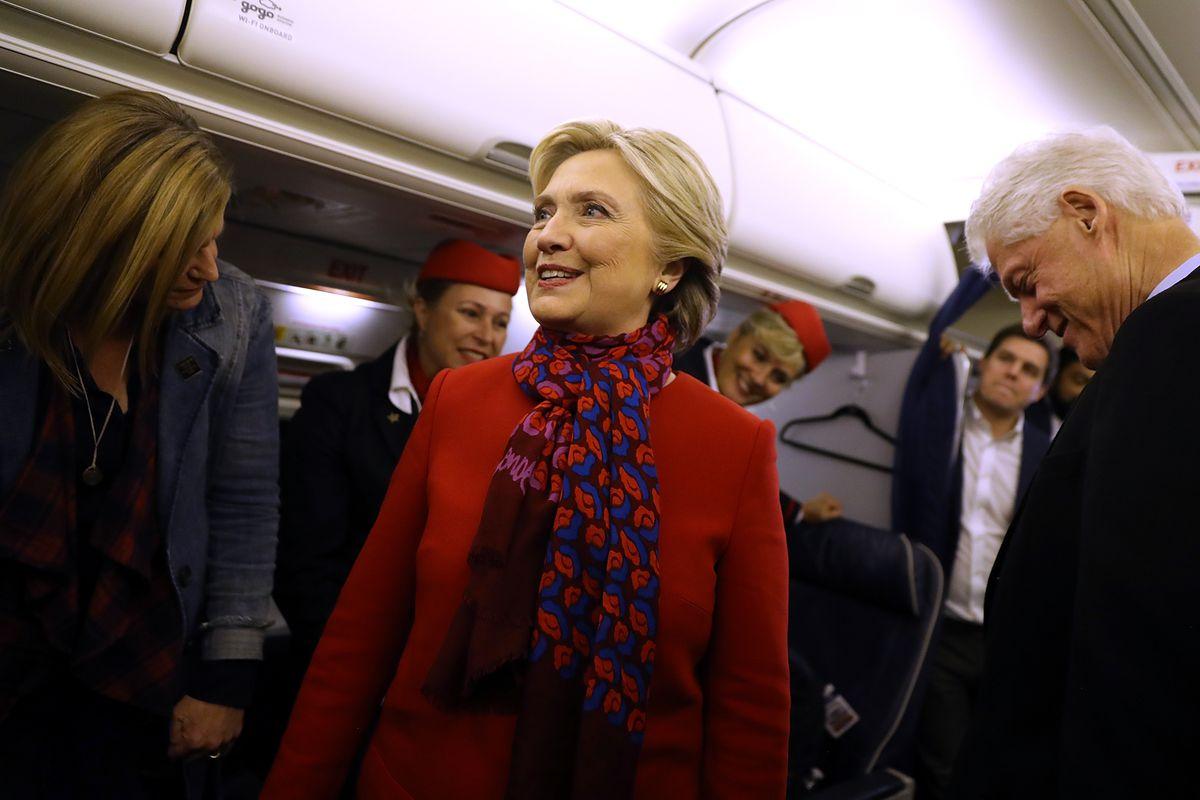 """Dear Madam President"" author Jennifer Palmieri, 2016 U.S. presidential candidate Hillary Clinton and former President Bill Clinton"