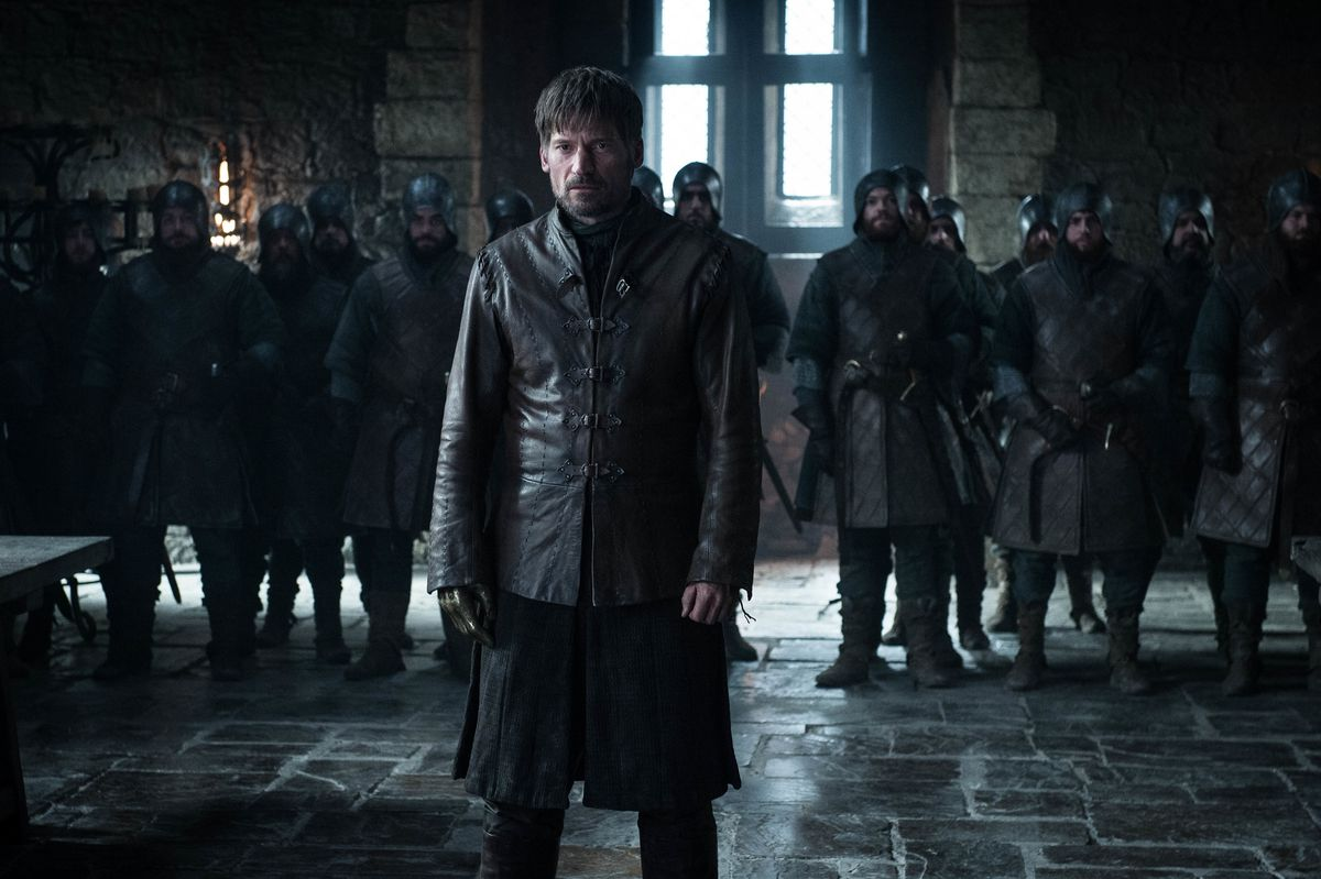 Game of Thrones season 8 episode 2 - Jaime standing trial at Winterfell