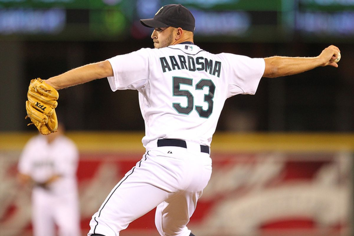 Mariners closer David Aardsma (Photo by Otto Greule Jr/Getty Images)