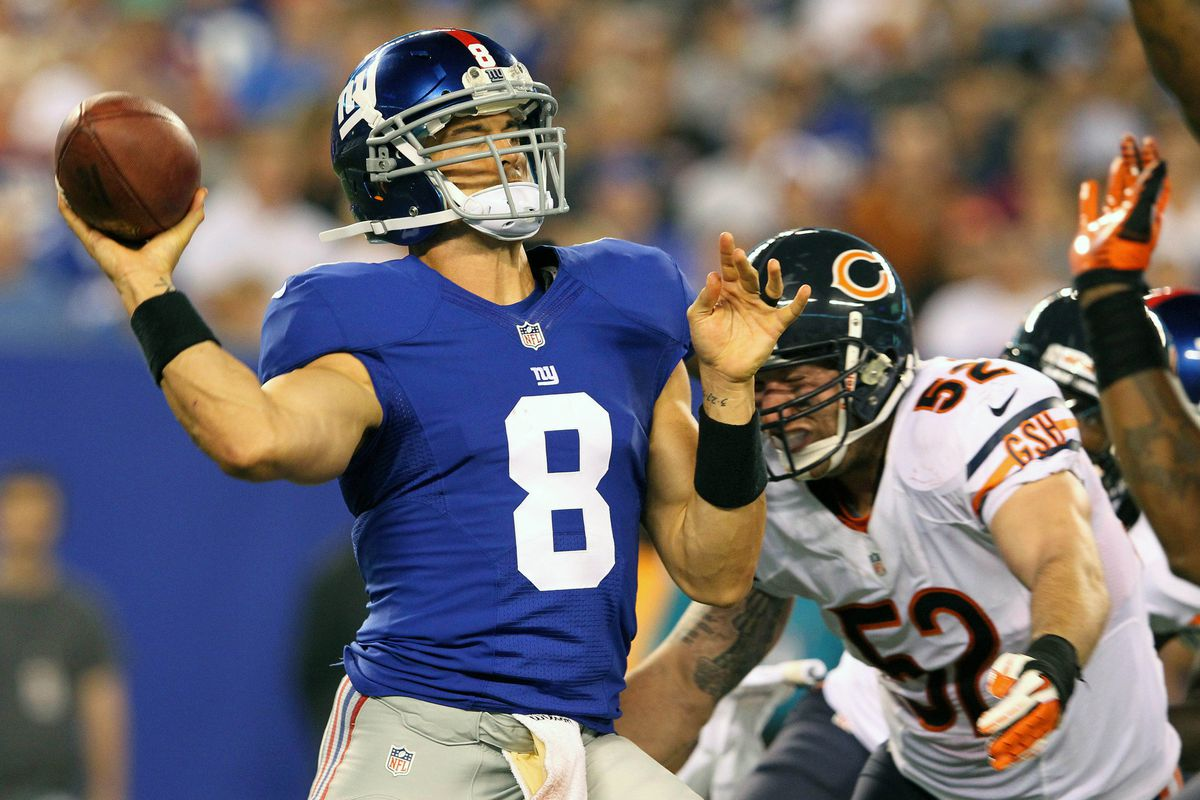 David Carr figures to get significant playing time Wednesday when the Giants conclude the preseason against the New England Patriots. Brad Penner-US PRESSWIRE