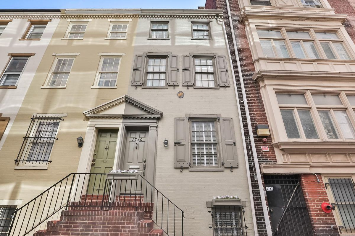 A series of rowhomes in Philadelphia.