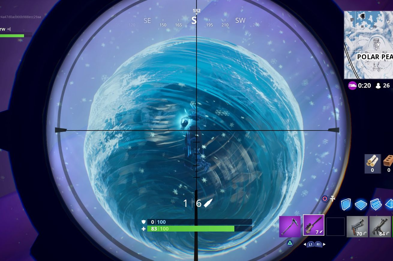 fortnite s floating sphere exploded leaving the island covered in snow and zombies