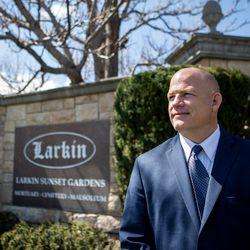 Spencer Larkin is photographed at Larkin Sunset Gardens in Sandy on Monday, April 20, 2020.