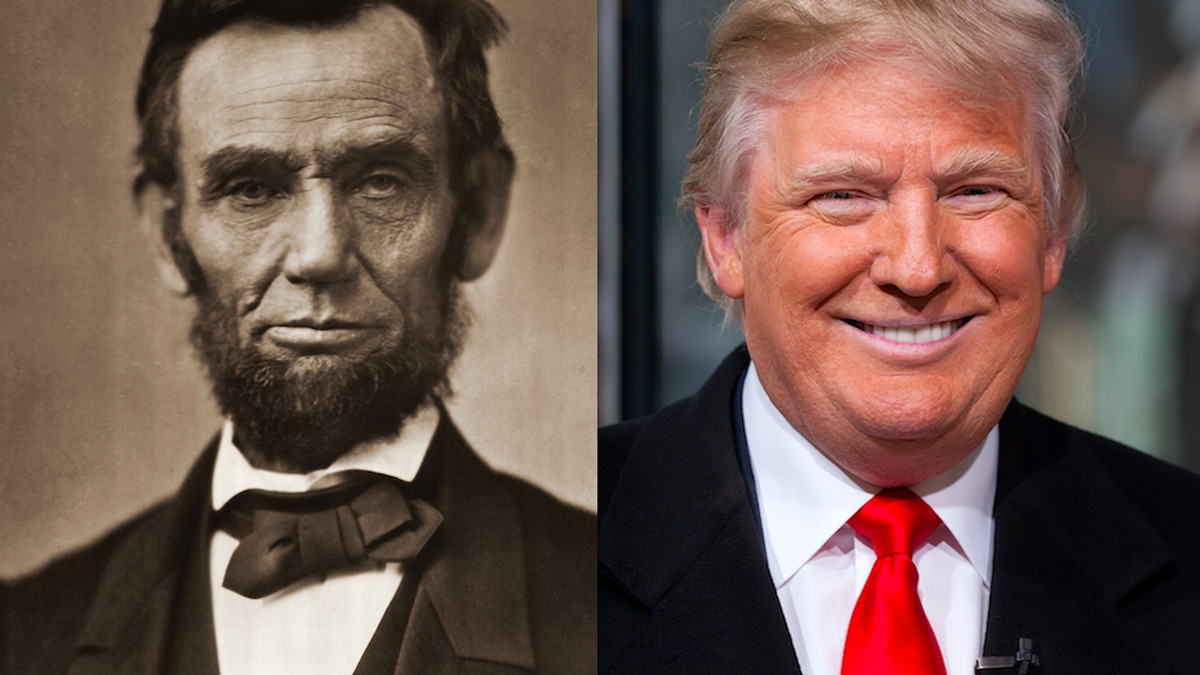 Image result for images of lincoln and trump