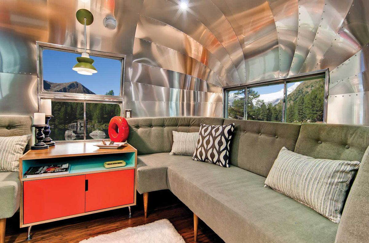 Airstream renovated into midcentury modern dream - Curbed