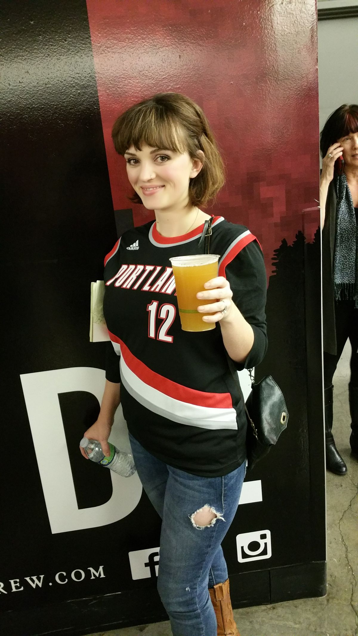 fa572ba36 Here she is rocking her brand new Aldridge jersey that she picked up at the  Hawks game last week.