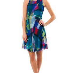 "Tarin geo dress by Julienne W, <a href=""http://shop.westonwear.com/index.php/just-in/tarin.html"">$128</a>"