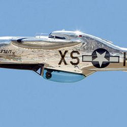 A P-51 Mustang flies upside down during the Hill Air Force Base open house and air show Saturday. The show continues today.