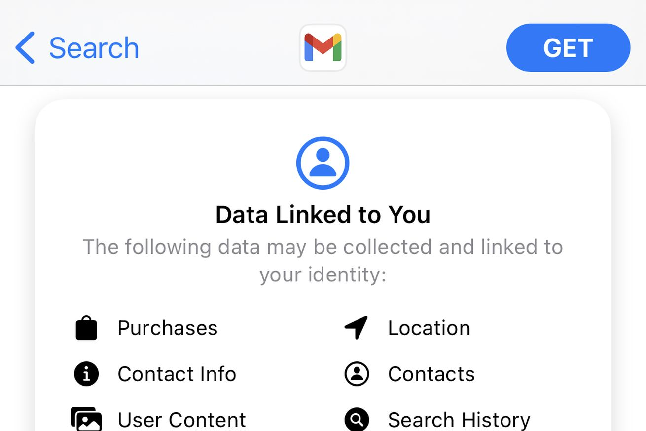 Google has finally added iOS's privacy labels to Gmail