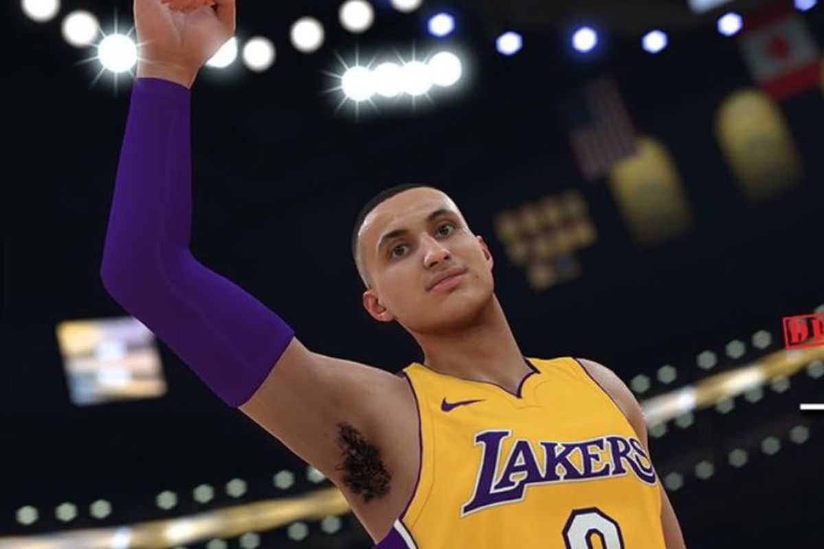 e2894ddd16b Lakers News  Kyle Kuzma s NBA 2K18 rating and player model revealed ...