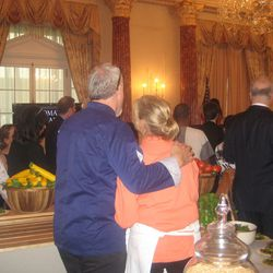 Art Smith and Mary Sue Milliken were in charge of some of the evening's food.