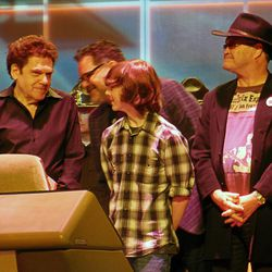Guests Charles Fleischer, Chandler Riggs and Mickey Dolenz are shown during a press conference that kicked off Salt Lake Comic Con FanXperience on Thursday morning.