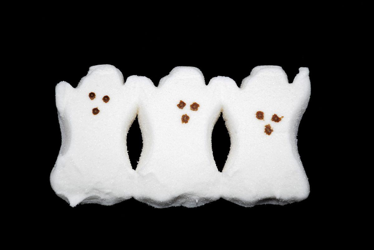 Ghost Peeps for Halloween
