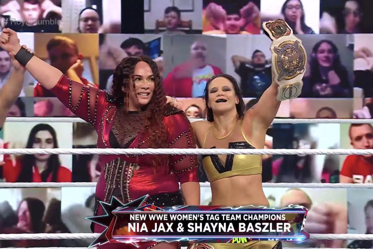 WWE Royal Rumble 2021 results: Nia Jax & Shayna Baszler win tag team titles  - Cageside Seats