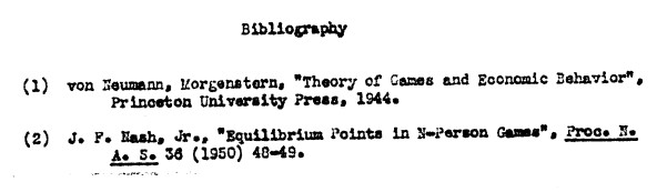"""""""Theory of Games and Economic Behavior""""; """"Equilibrium Points in N-Person Games"""""""