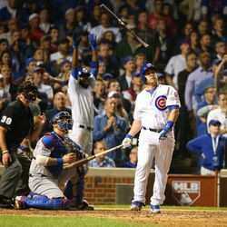 October 20: Check out Dexter Fowler's reaction to Miguel Montero's grand slam vs. the Dodgers in the NLCS