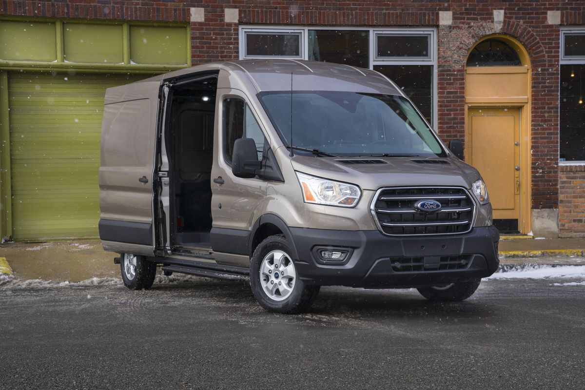 Ford announces an all-electric Transit cargo van - The Verge