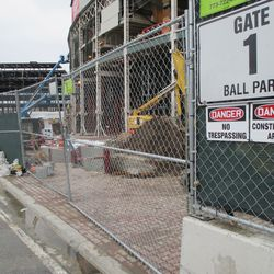 Wed 12/30: new excavation in front of marquee area -