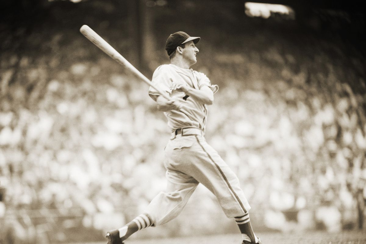 St. Louis Cardinals Player Stan Musial Batting During Game