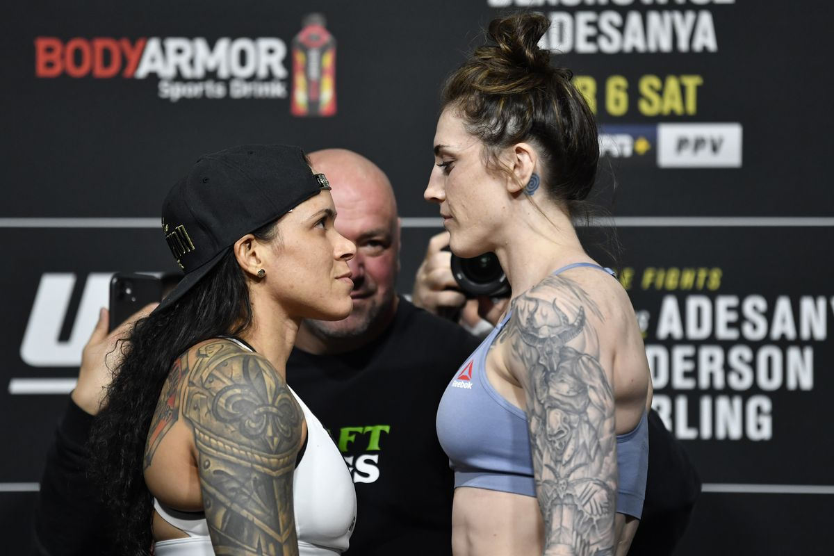 Amanda Nunes and Megan Anderson at UFC 259